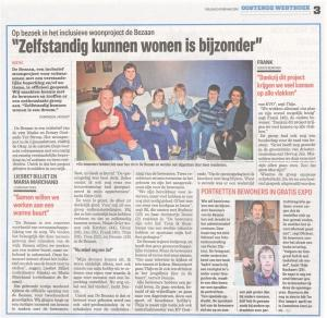 De Bezaan in Het Nieuwsblad op 5 februari 2016